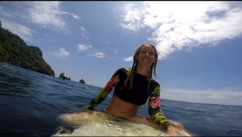 So strahlt man am Ende einer gelungenen Surf-Session