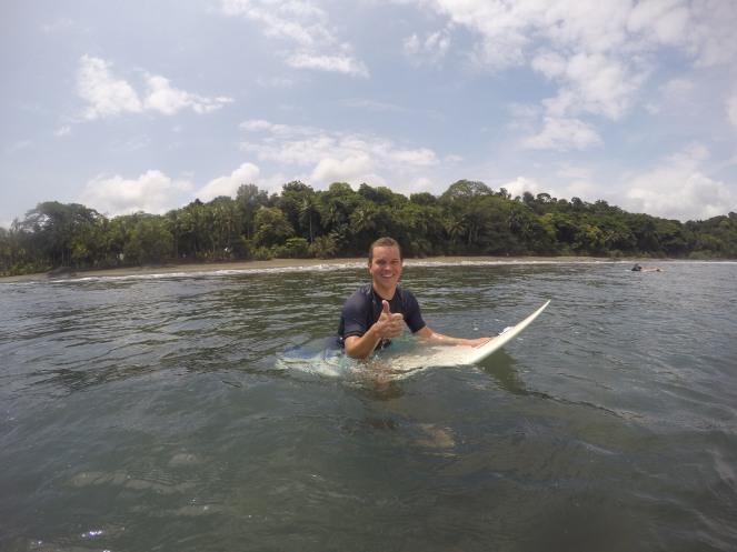 Surfen vor herrlicher Kulisse