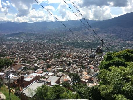 Aussicht über Medellín von Santo Domingo aus