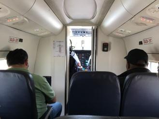 dafür mit freier Sicht ins Cockpit
