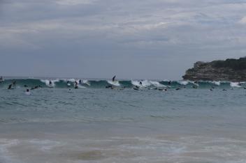 Die Crowds am Bondi Beach sind gewöhnungsbedürftig